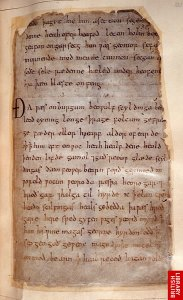 Beowulf: sole surviving manuscript British Library Cotton MS Vitellius A.XV, f.132 Copyright © The British Library Board