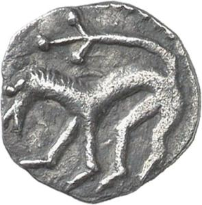 Lion. Silver early penny, King Aldfrith of Northumbria (685-704), York mint. CM.1980-2007, De Wit Collection.