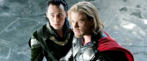 Loki and Thor: Tom Hiddleston and Chris Helmsworth
