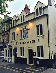 The Eagle and Child pub in Oxford where Tolkien, C. S. Lewis and other great thinkers would meet. I've had a pint or two myself.