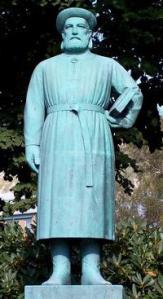 Stature of Snorri in Bergen, Norway