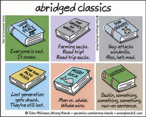 abridged classics. Where's Beowulf?