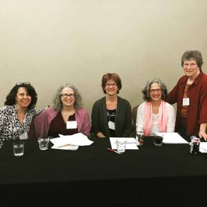 Tammy Hetrick, Susan S. Morrison, Jill Kandel, Barbara A Stark-Nemon and the ever generous Susan Wittig Albert who chaired our panel.