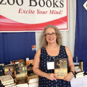 Grendel's Mother and I at the Kazoo Books table.