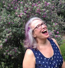 Laughing in the front yard